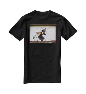 Banksy Sneezing Woman T-Shirt - Canvas Art Rocks - 1