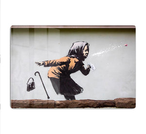 Banksy Sneezing Woman HD Metal Print - Canvas Art Rocks - 1