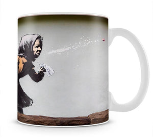 Banksy Sneezing Woman Mug - Canvas Art Rocks - 1