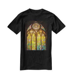 Banksy Stained Glass Window T-Shirt - Canvas Art Rocks - 1