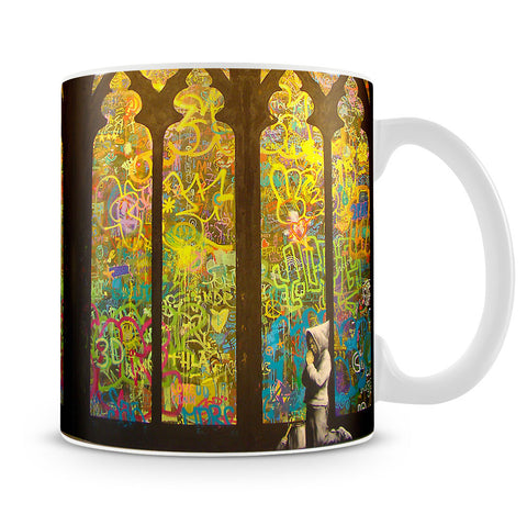 Banksy Stained Glass Window Mug