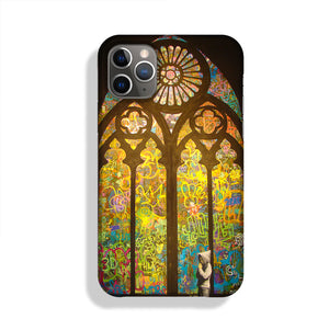 Banksy Stained Glass Window Phone Case iPhone 11 Pro Max