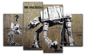 Banksy Star Wars 4 Split Panel Canvas  - Canvas Art Rocks - 1