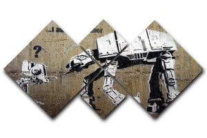 Banksy Star Wars 4 Square Multi Panel Canvas  - Canvas Art Rocks - 1