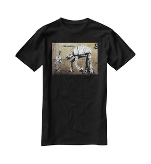 Banksy Star Wars T-Shirt - Canvas Art Rocks - 1
