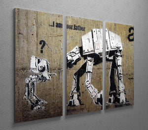 Banksy Star Wars 3 Split Canvas Print - Canvas Art Rocks