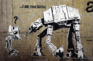 Banksy Star Wars Wall Mural Wallpaper - Canvas Art Rocks - 1