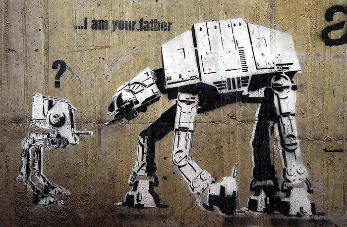 Banksy Star Wars Wall Mural Wallpaper