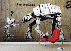 Banksy Star Wars Wall Mural Wallpaper - Canvas Art Rocks - 2