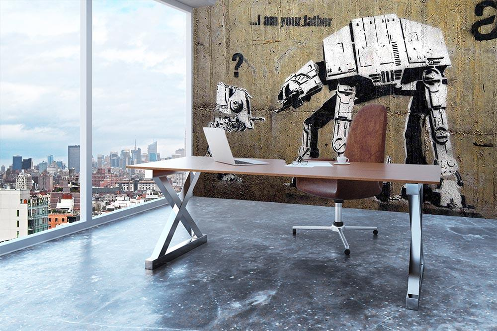 Banksy Star Wars Wall Mural Wallpaper Canvas Art Rocks