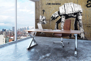 Banksy Star Wars Wall Mural Wallpaper - Canvas Art Rocks - 3