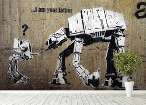 Banksy Star Wars Wall Mural Wallpaper - Canvas Art Rocks - 4