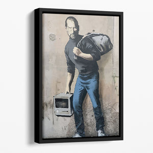Banksy Steve Jobs Floating Framed Canvas