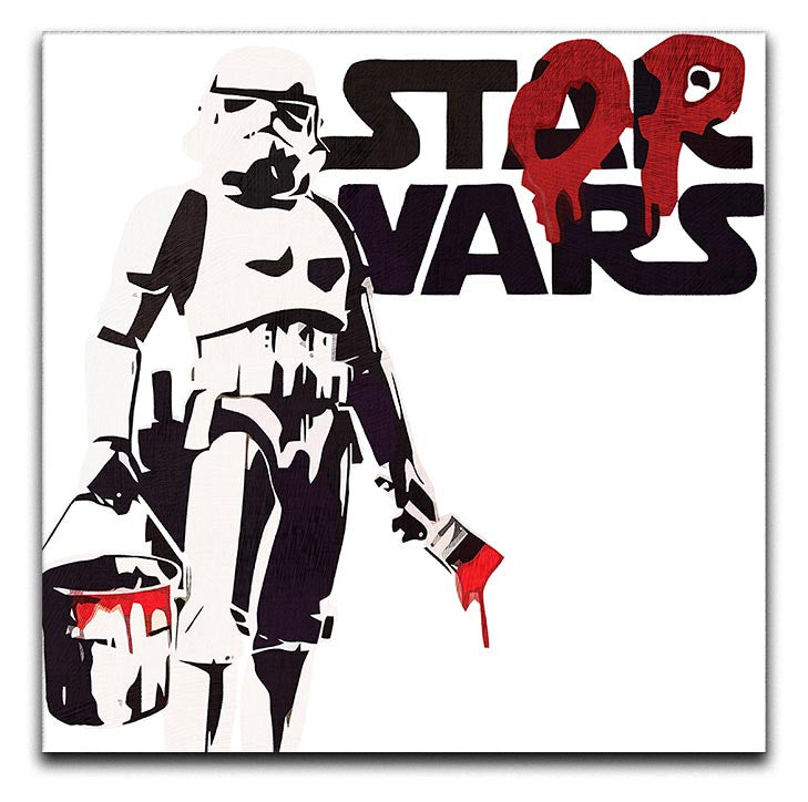 Banksy Stop Wars Star Wars Print - Canvas Art Rocks - 1