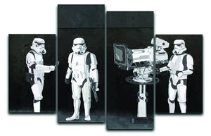 Banksy Stormtroopers Filming Oscars 4 Split Panel Canvas  - Canvas Art Rocks - 1