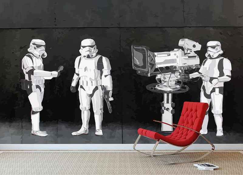 Banksy Stormtroopers Filming Oscars Wall Mural Wallpaper - Canvas Art Rocks - 1