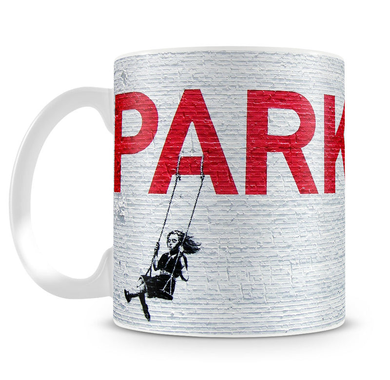Banksy Swing Girl Mug - Canvas Art Rocks