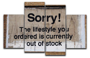 Banksy The Lifestyle You Ordered 4 Split Panel Canvas  - Canvas Art Rocks - 1