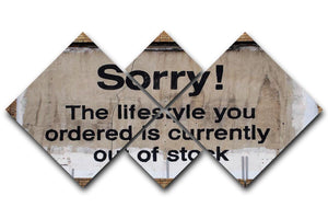 Banksy The Lifestyle You Ordered 4 Square Multi Panel Canvas  - Canvas Art Rocks - 1
