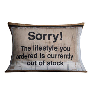 Banksy The Lifestyle You Ordered Cushion