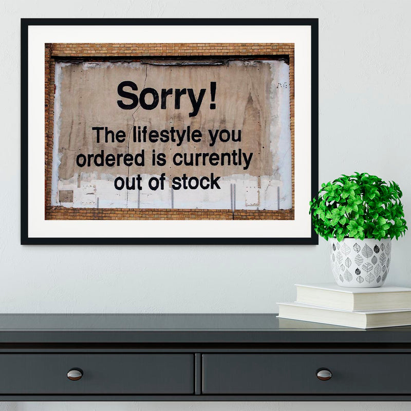 Banksy The Lifestyle You Ordered Framed Print - Canvas Art Rocks - 1