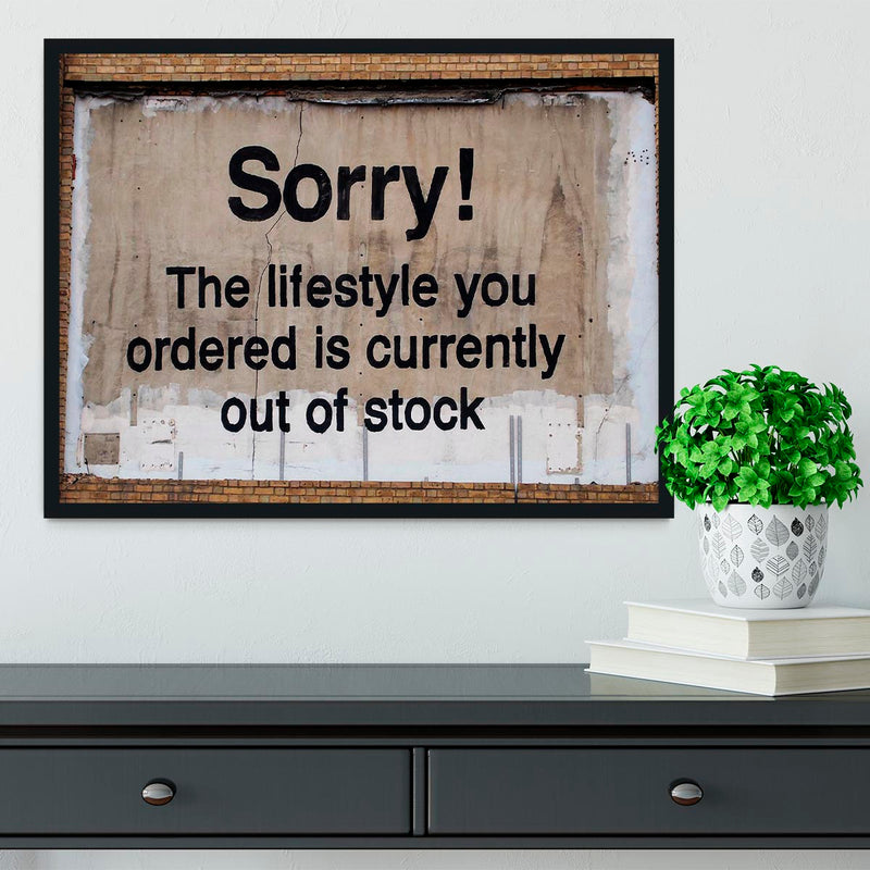 Banksy The Lifestyle You Ordered Framed Print - Canvas Art Rocks - 2