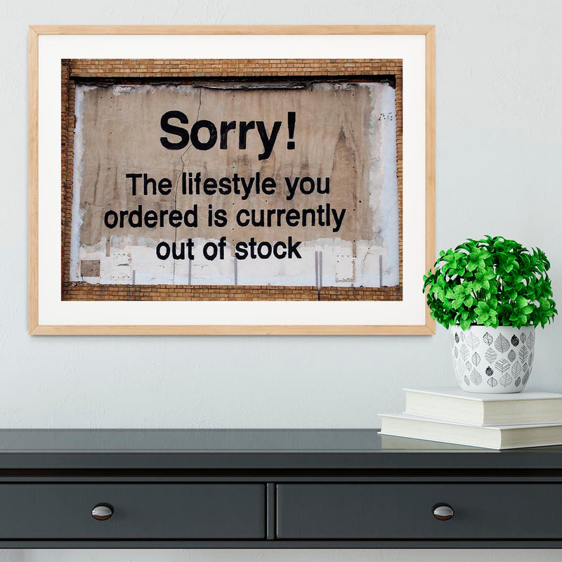 Banksy The Lifestyle You Ordered Framed Print - Canvas Art Rocks - 3