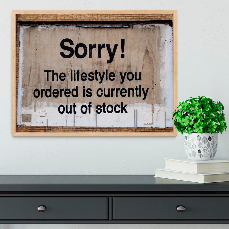Banksy The Lifestyle You Ordered Framed Print - Canvas Art Rocks - 4