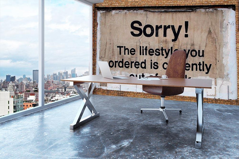 Banksy The Lifestyle You Ordered Wall Mural Wallpaper - Canvas Art Rocks - 3