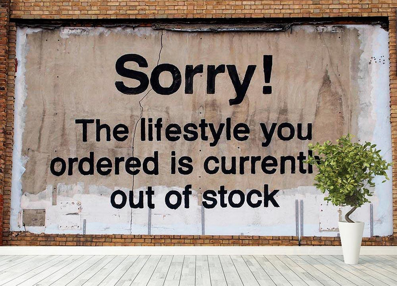 Banksy The Lifestyle You Ordered Wall Mural Wallpaper - Canvas Art Rocks - 4