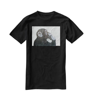 Banksy The Thinker Monkey T-Shirt - Canvas Art Rocks - 1