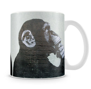 Banksy The Thinker Monkey Mug - Canvas Art Rocks
