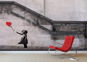 Banksy There Is Always Hope Wall Mural Wallpaper - Canvas Art Rocks - 2