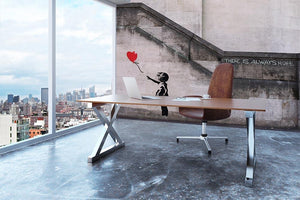 Banksy There Is Always Hope Wall Mural Wallpaper - Canvas Art Rocks - 3