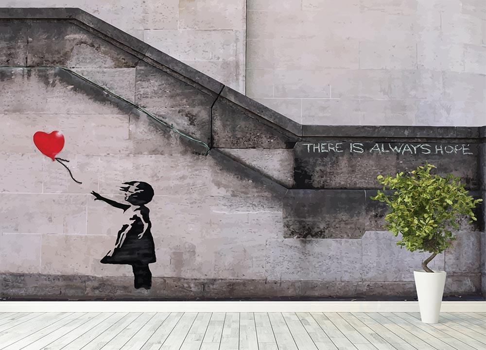 Banksy There Is Always Hope Wall Mural Wallpaper