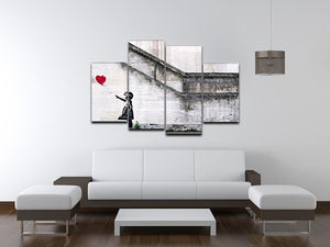 Banksy There is Always Hope 4 Split Panel Canvas - Canvas Art Rocks - 3