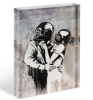Banksy Think Tank Acrylic Block - Canvas Art Rocks - 1