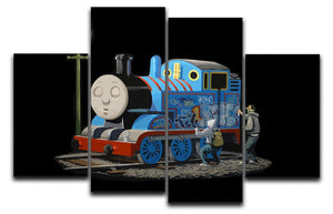 Banksy Thomas the Tank Engine 4 Split Panel Canvas  - Canvas Art Rocks - 1
