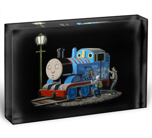 Banksy Thomas the Tank Engine Acrylic Block - Canvas Art Rocks - 1