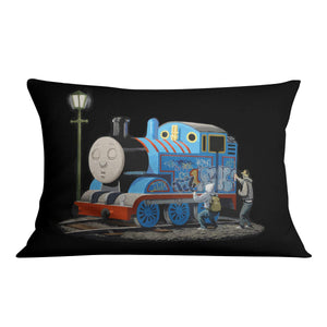 Banksy Thomas the Tank Engine Cushion
