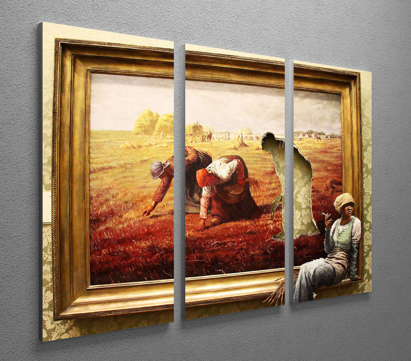 Banksy Time Out 3 Split Panel Canvas Print - Canvas Art Rocks