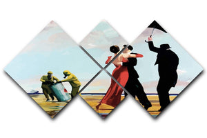Banksy Toxic Beach 4 Square Multi Panel Canvas  - Canvas Art Rocks - 1