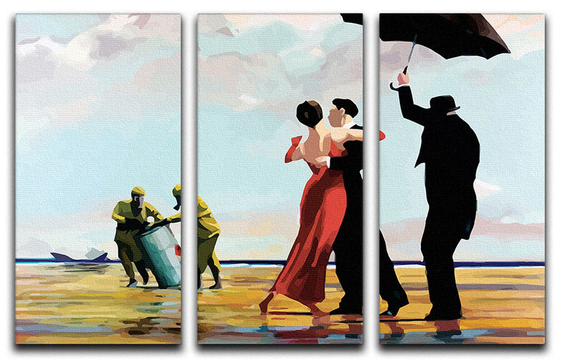 Banksy Toxic Beach 3 Split Panel Canvas Print - Canvas Art Rocks