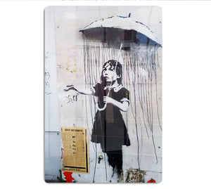 Banksy Umbrella Girl HD Metal Print
