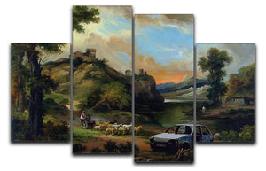 Banksy Vandalised Car 4 Split Panel Canvas  - Canvas Art Rocks - 1