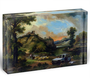 Banksy Vandalised Car Acrylic Block - Canvas Art Rocks - 1