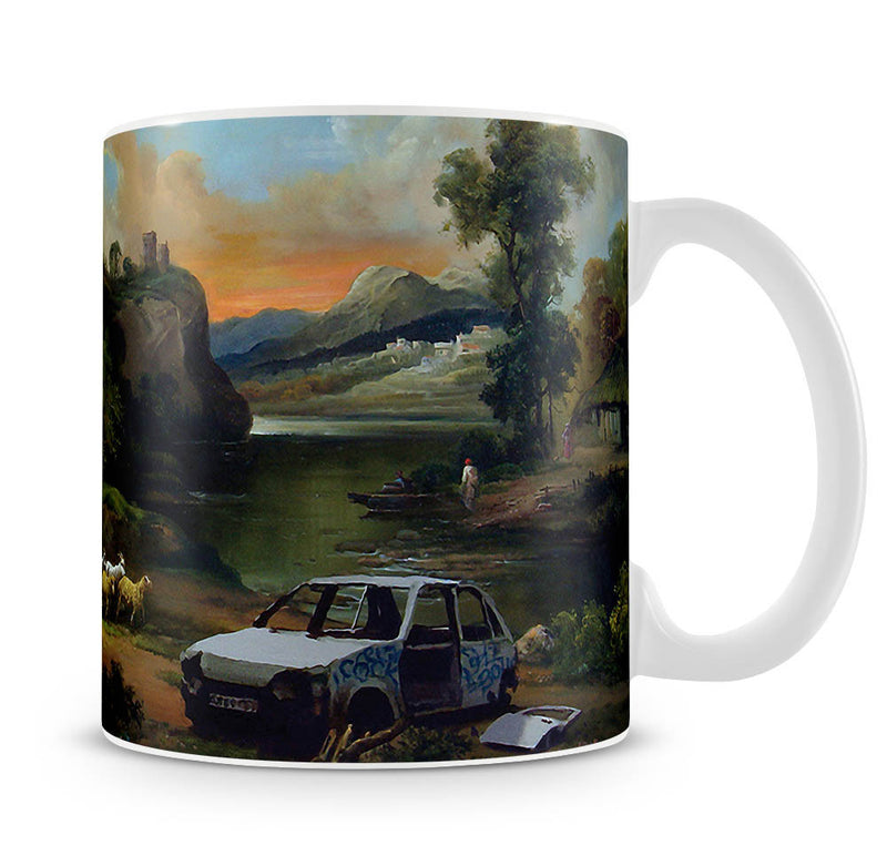 Banksy Vandalised Car Mug - Canvas Art Rocks