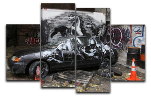 Banksy War Horse 4 Split Panel Canvas  - Canvas Art Rocks - 1