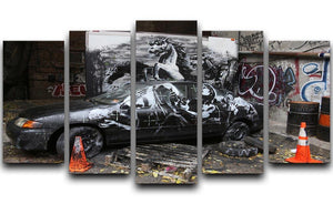 Banksy War Horse 5 Split Panel Canvas  - Canvas Art Rocks - 1