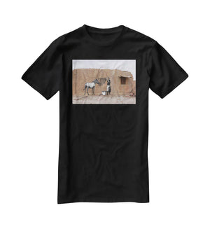 Banksy Washing Zebra Stripes T-Shirt - Canvas Art Rocks - 1